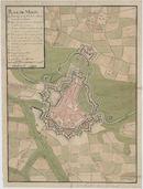 Westflandrica - Menen, stadsplan met de versterkingen