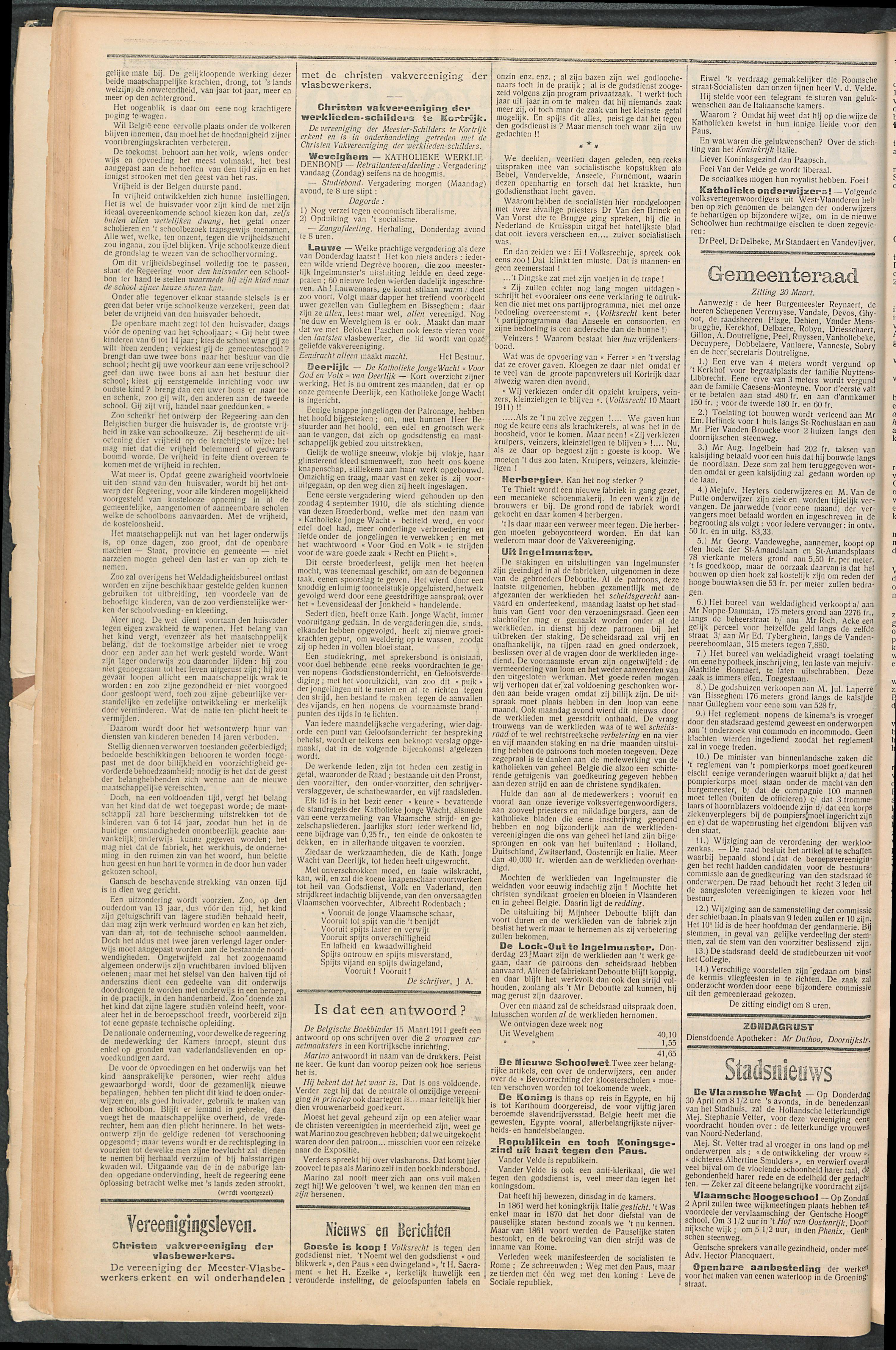 Het Kortrijksche Volk 1911-03-26 p2