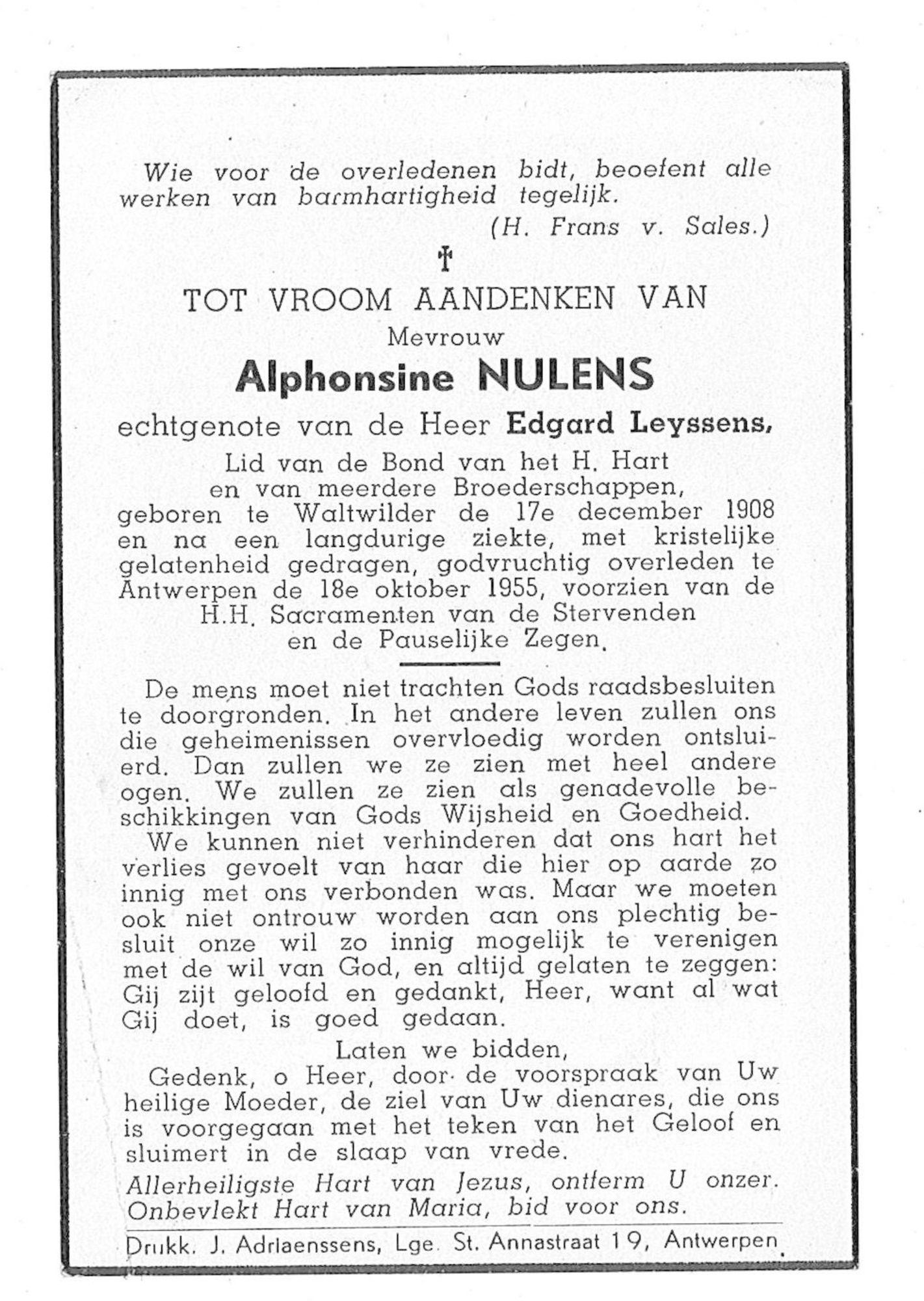 Alphonsine Nulens