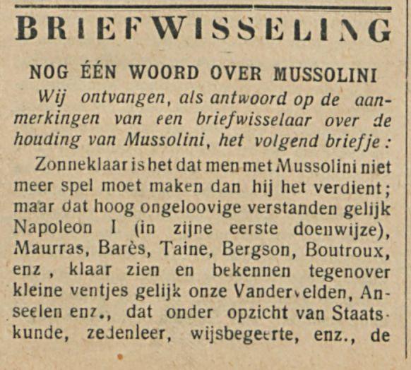 BRIEFWISSELING-1