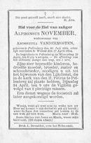 Alphonsus November
