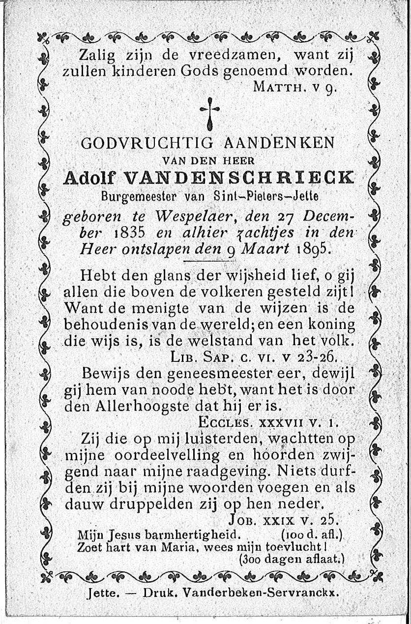 Adolf Van Den Schrieck