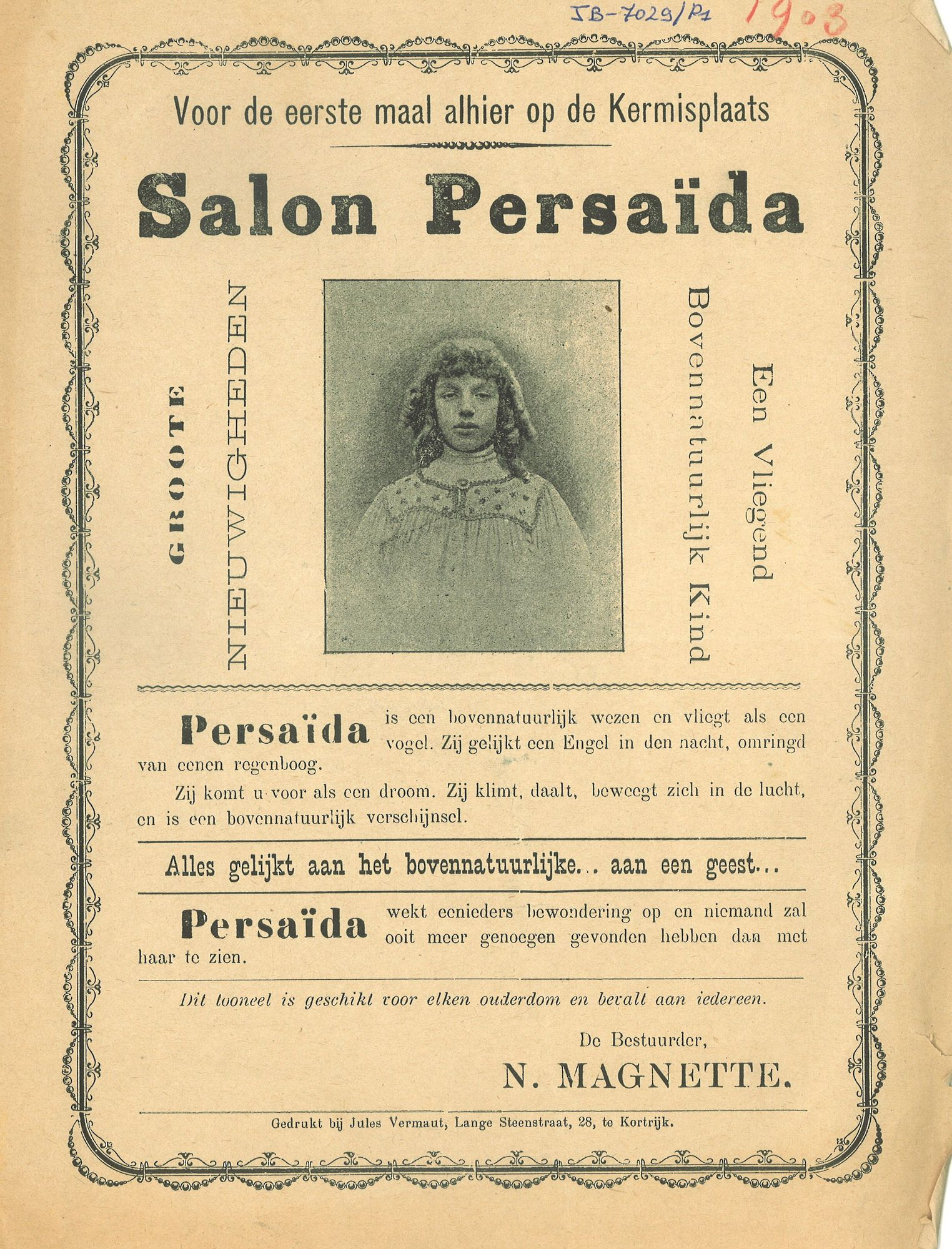 Paasfoor 1903: Salon Persaïda