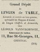 LINGES de TABLE