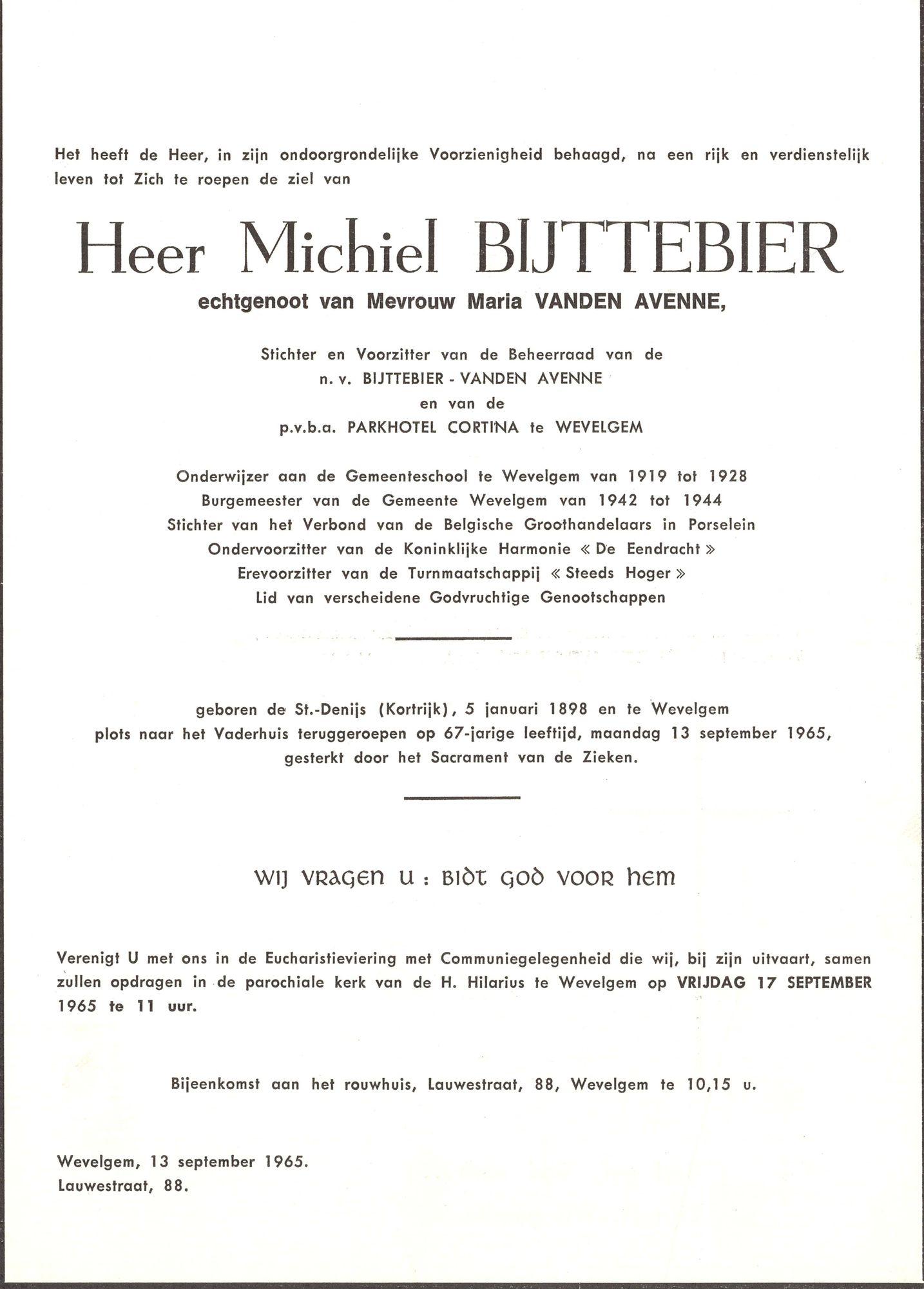Michiel Bijttebier