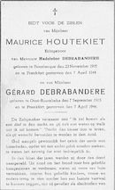 Maurice Houtekiet en Gérard Debrabandere
