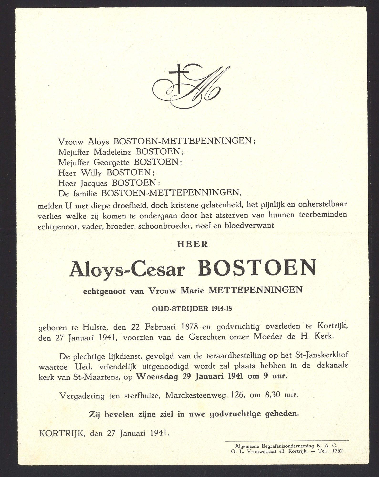Bostoen Aloys-Cesar