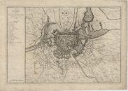 Westflandrica - Ieper, plan met de aanvallen op de stad 1744