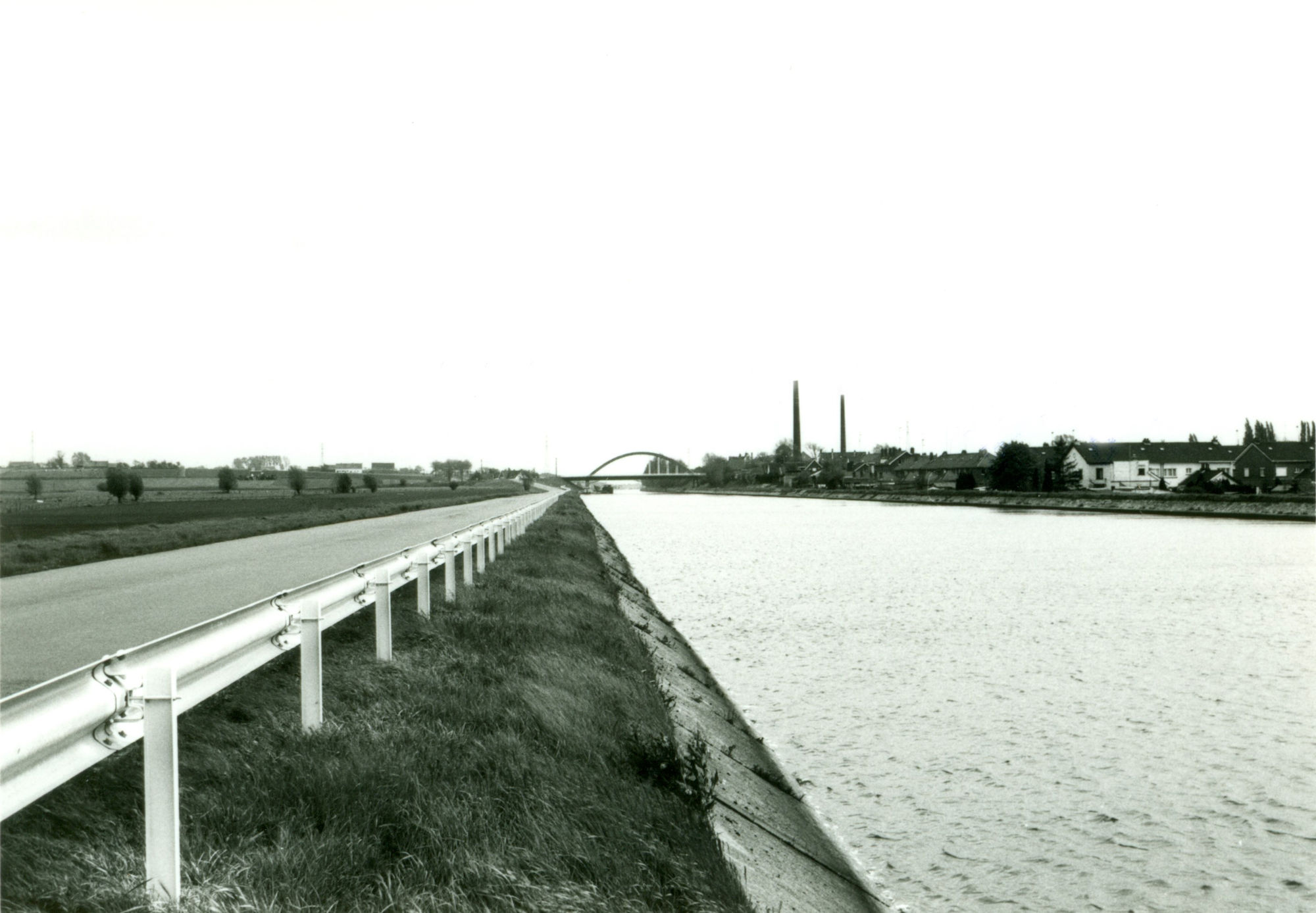 Kanaal Bossuit-Kortrijk in Zwevegem 1978