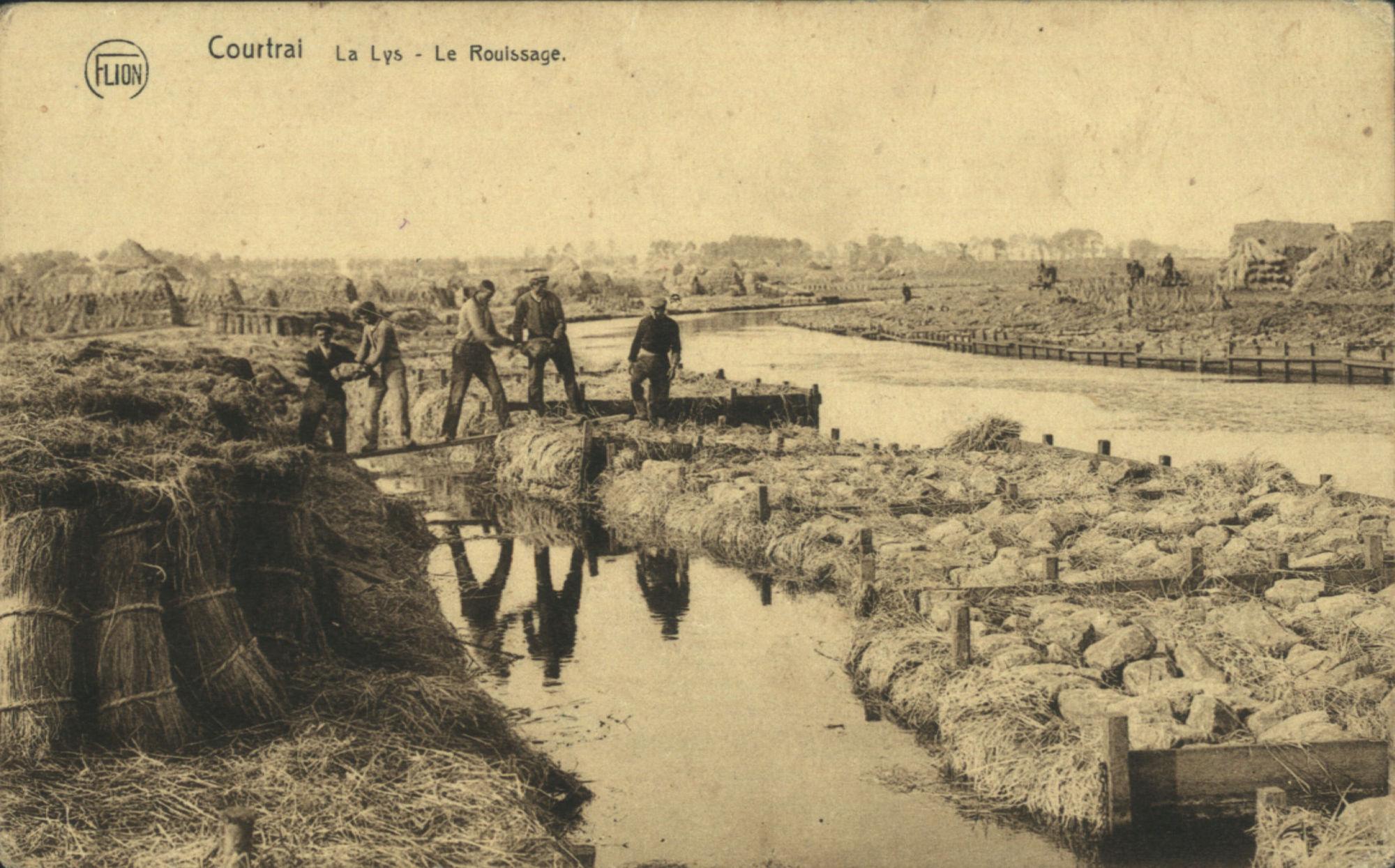 Het Leieroten te Kortrijk.