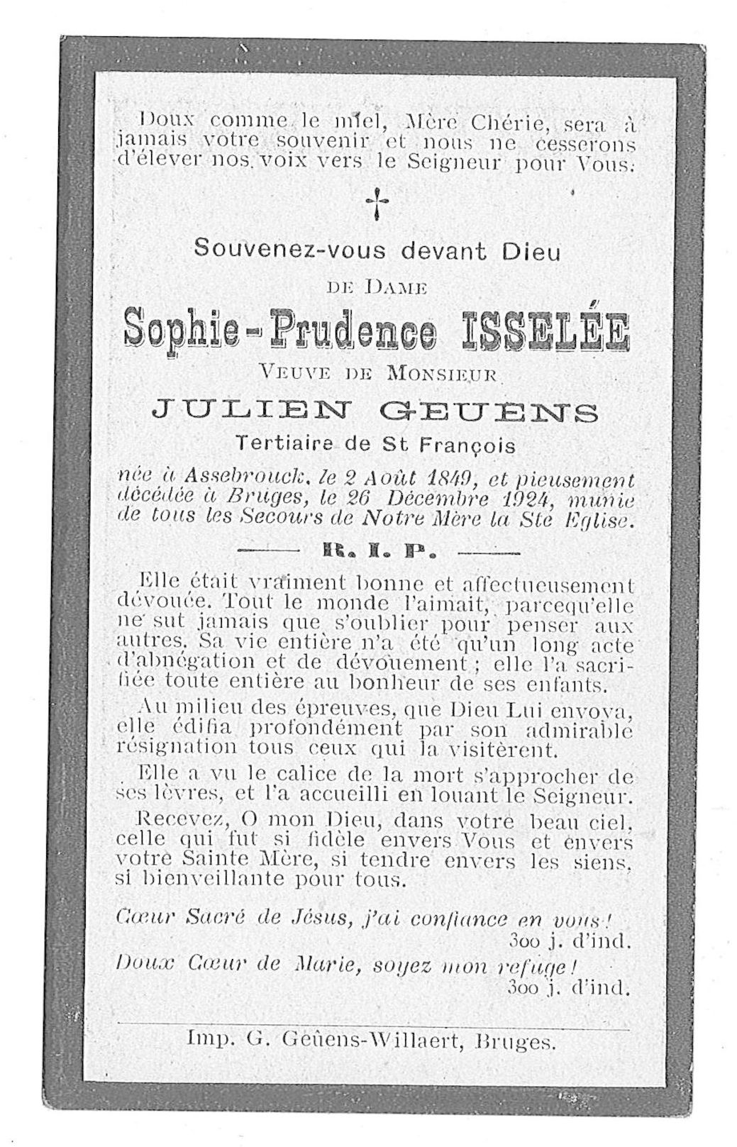 Sophie-Prudence Isselée