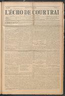 L'echo De Courtrai 1914-02-08