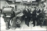 Opening textielgebouw in het P.T.I. 1984