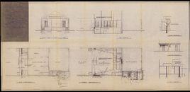 Bouwplannen voor de verbouwing van de Corneliszaal te Aalbeke, 1970-1971