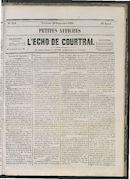 L'echo De Courtrai 1865-09-29