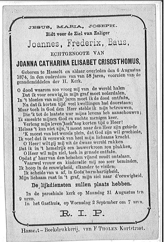 Joannes Frederix Baus