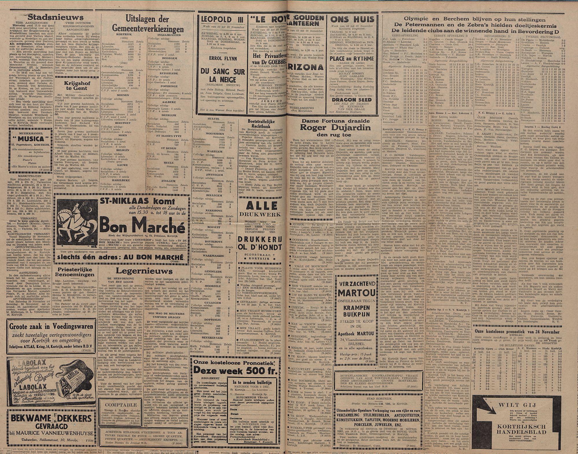 Kortrijksch Handelsblad 26 november1946 Nr95 p2-3