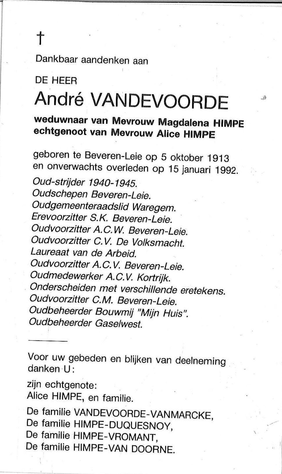 André Vandevoorde