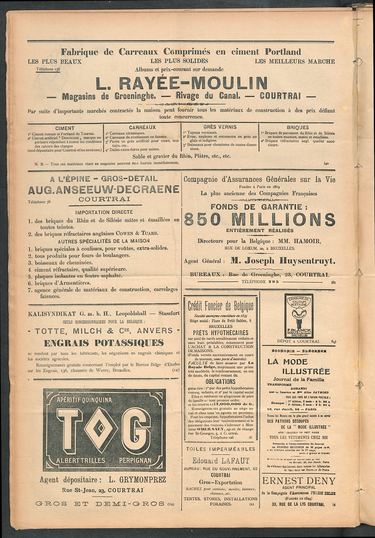 L'echo De Courtrai 1911-01-29 p6