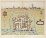 Westflandrica - Nieuwpoort, kaart en zicht op de stad