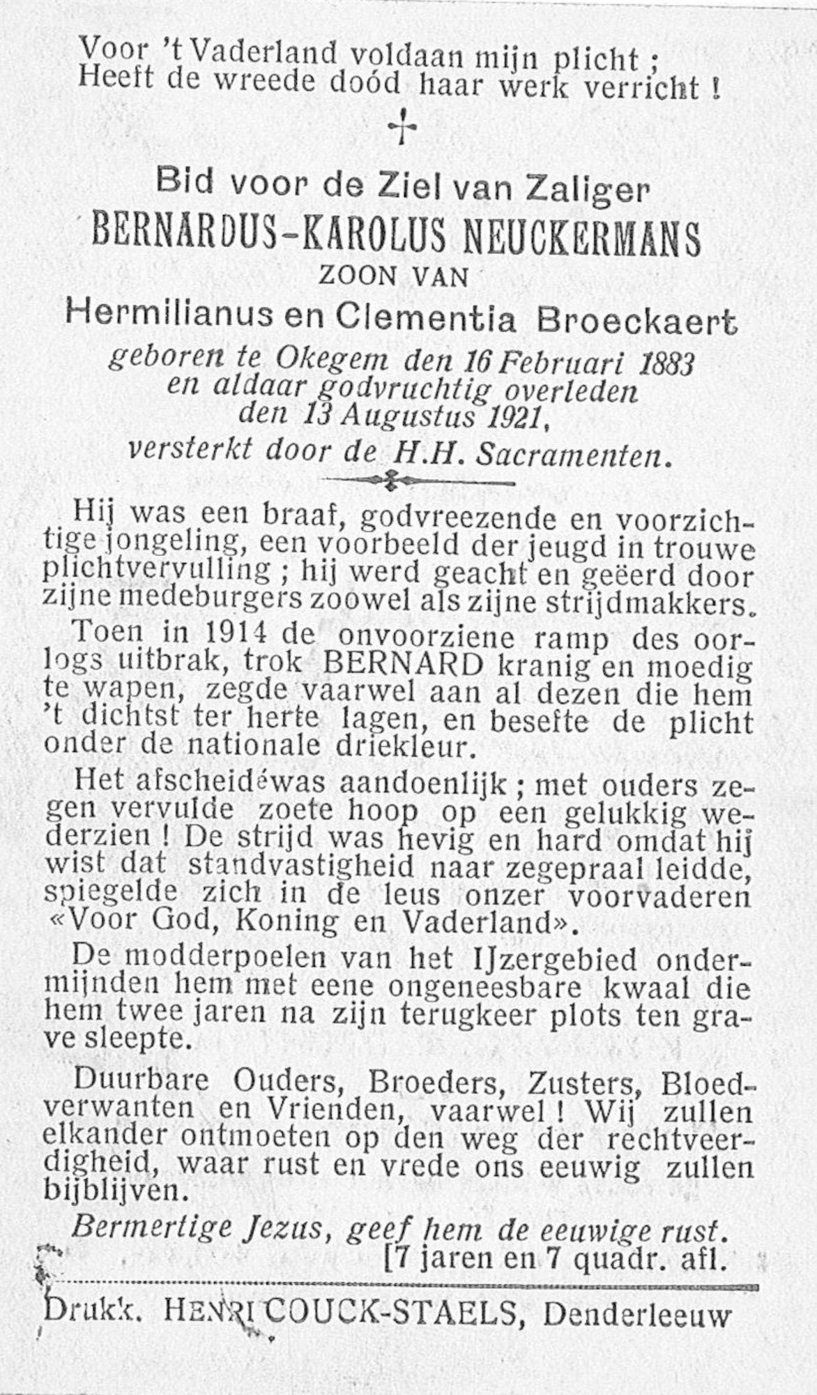 Bernardus-Karolus Neuckermans