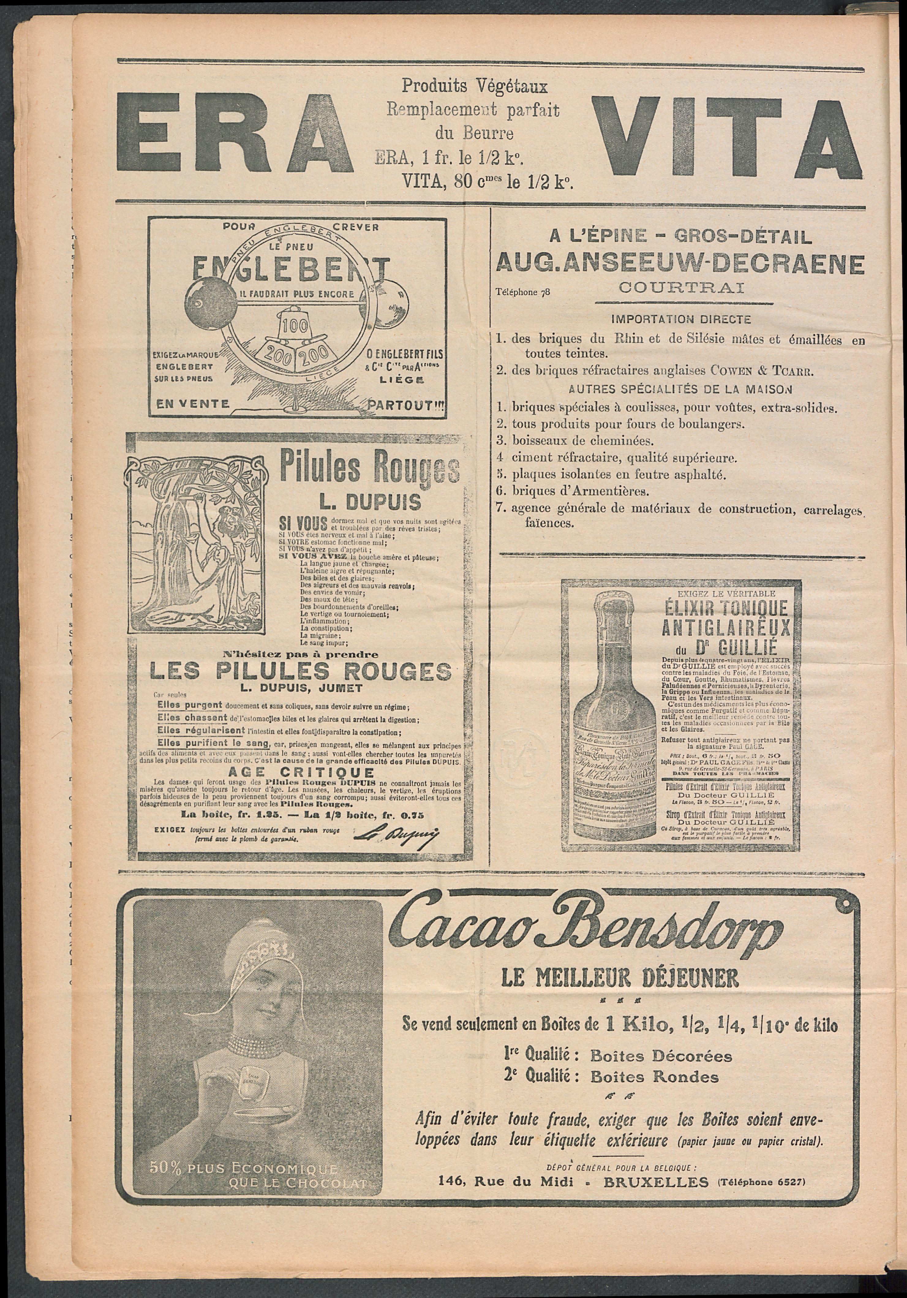 L'echo De Courtrai 1910-01-16 p4