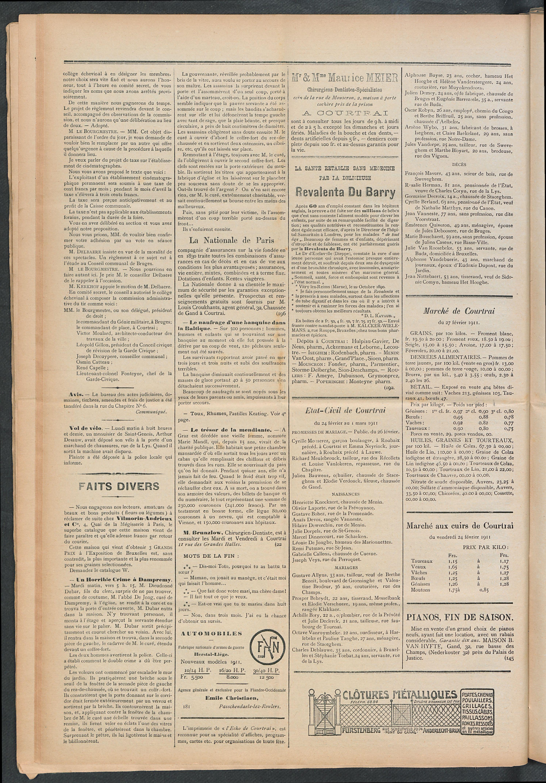 L'echo De Courtrai 1911-03-02 p2