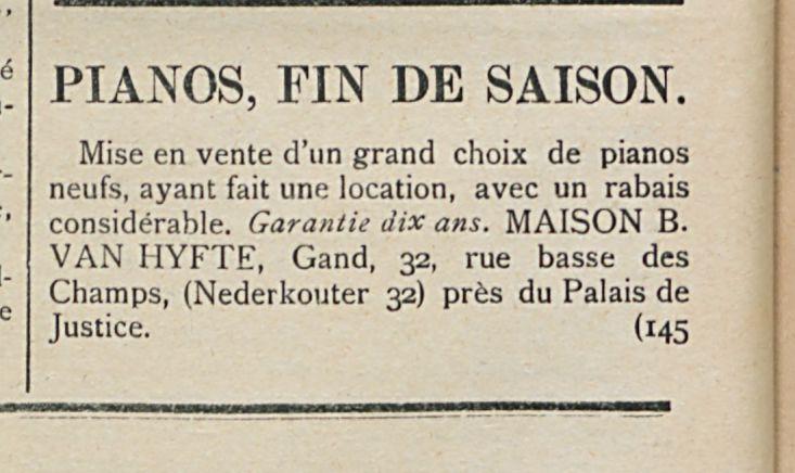 PIANOS FIN DE SAISON