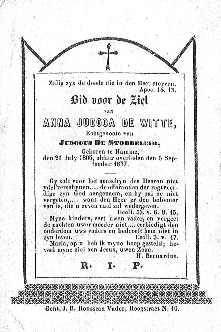 Anna-Judoca De Witte