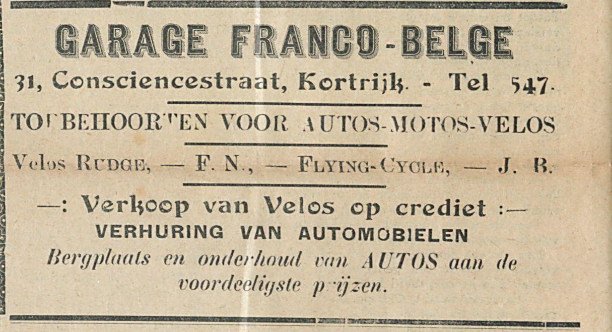 GARAGE FRANCO BELGE