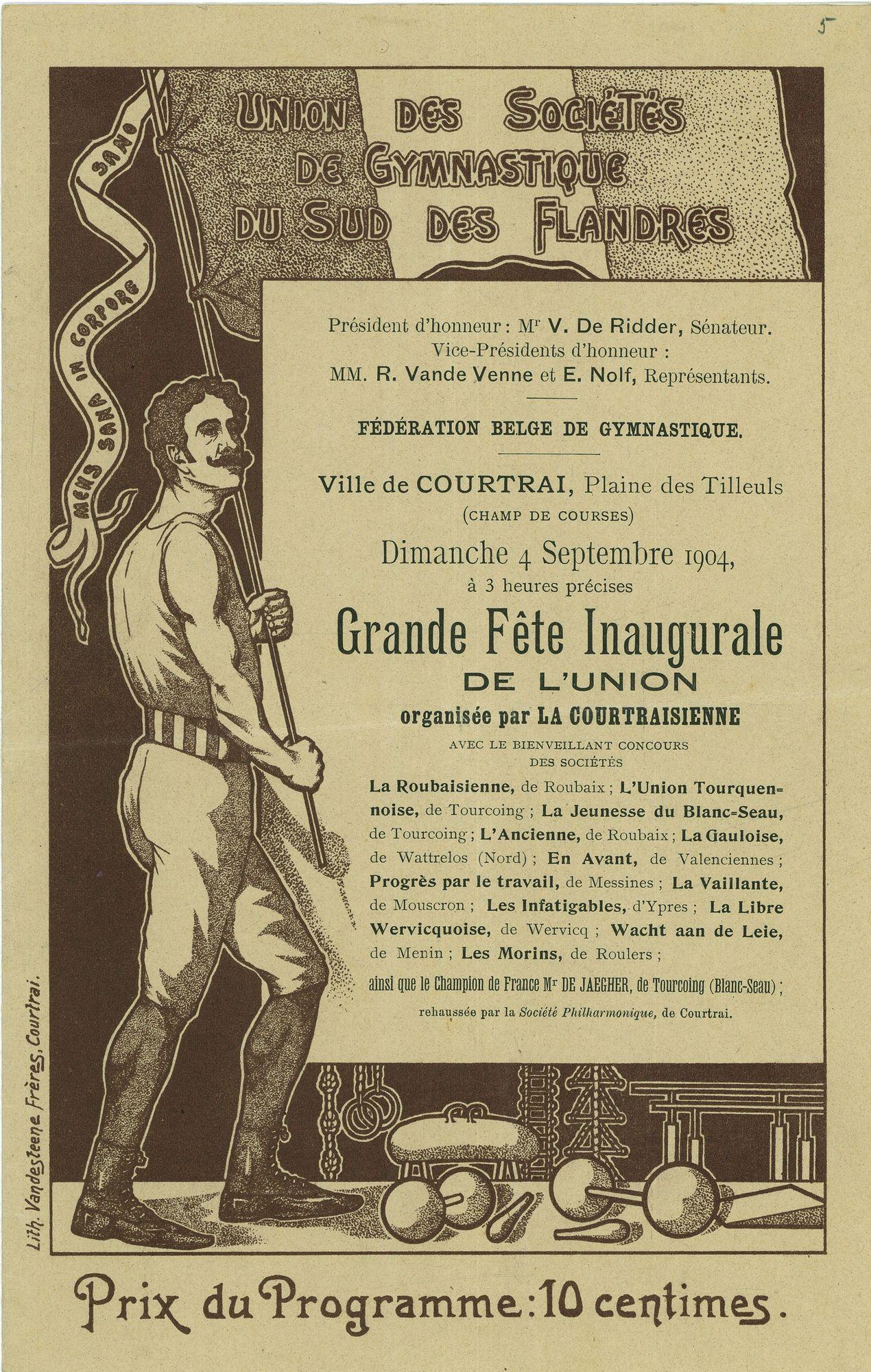 Programma turnfeesten 1904