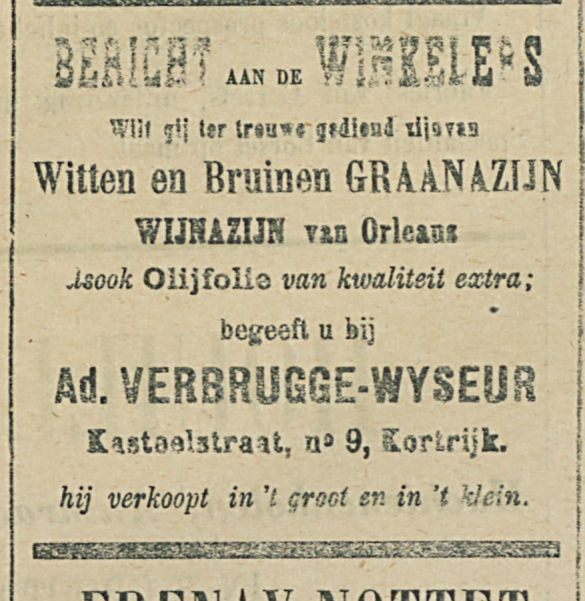 BERICHT AAN DE WINKELIERS
