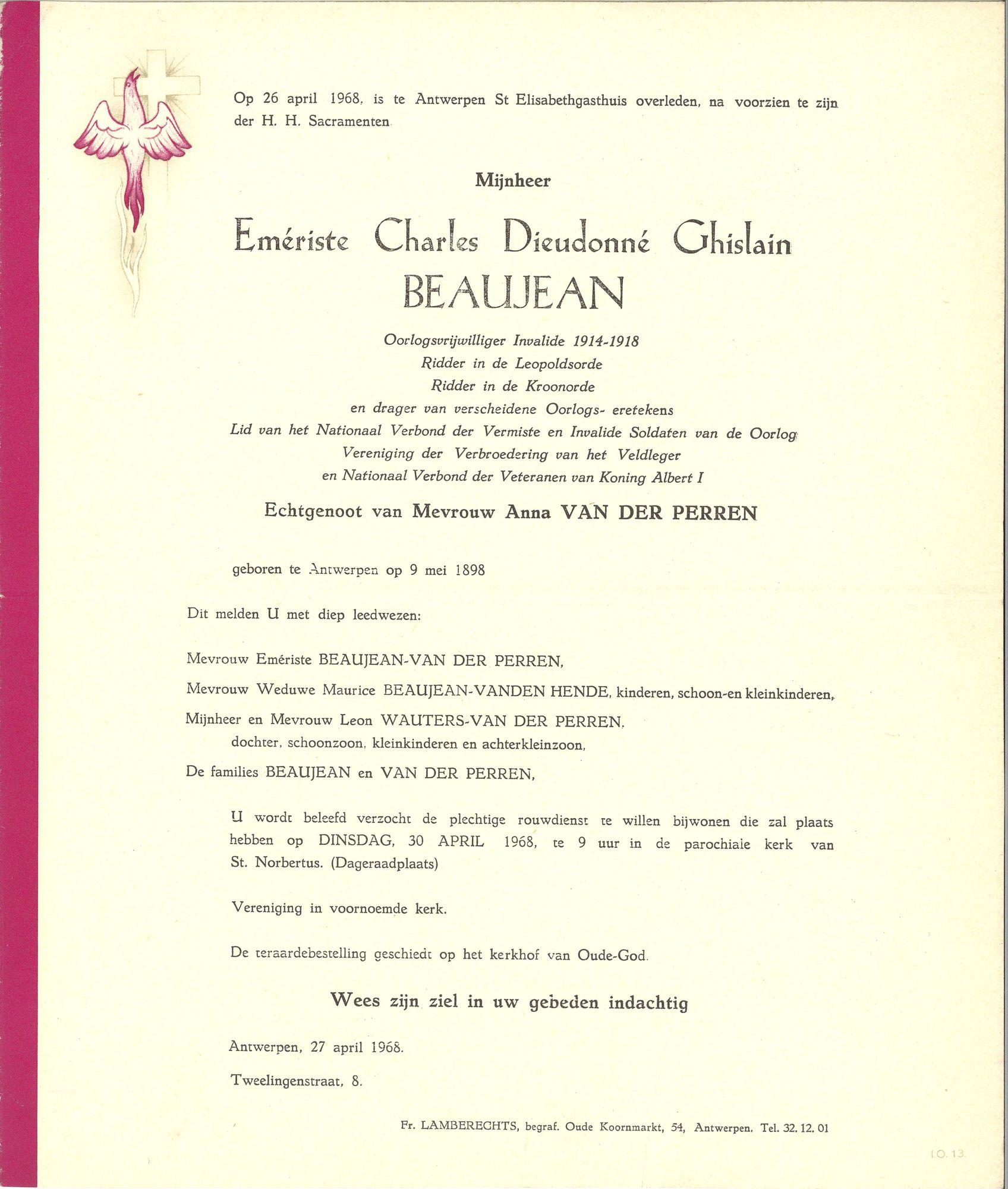 Emériste Charles Dieudonné Ghislain Beaujean