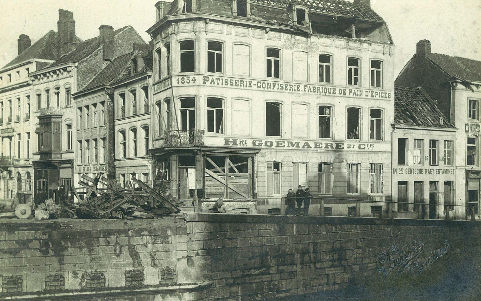 Leiebrug in 1918
