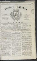 Petites Affiches De Courtrai 1835-11-29