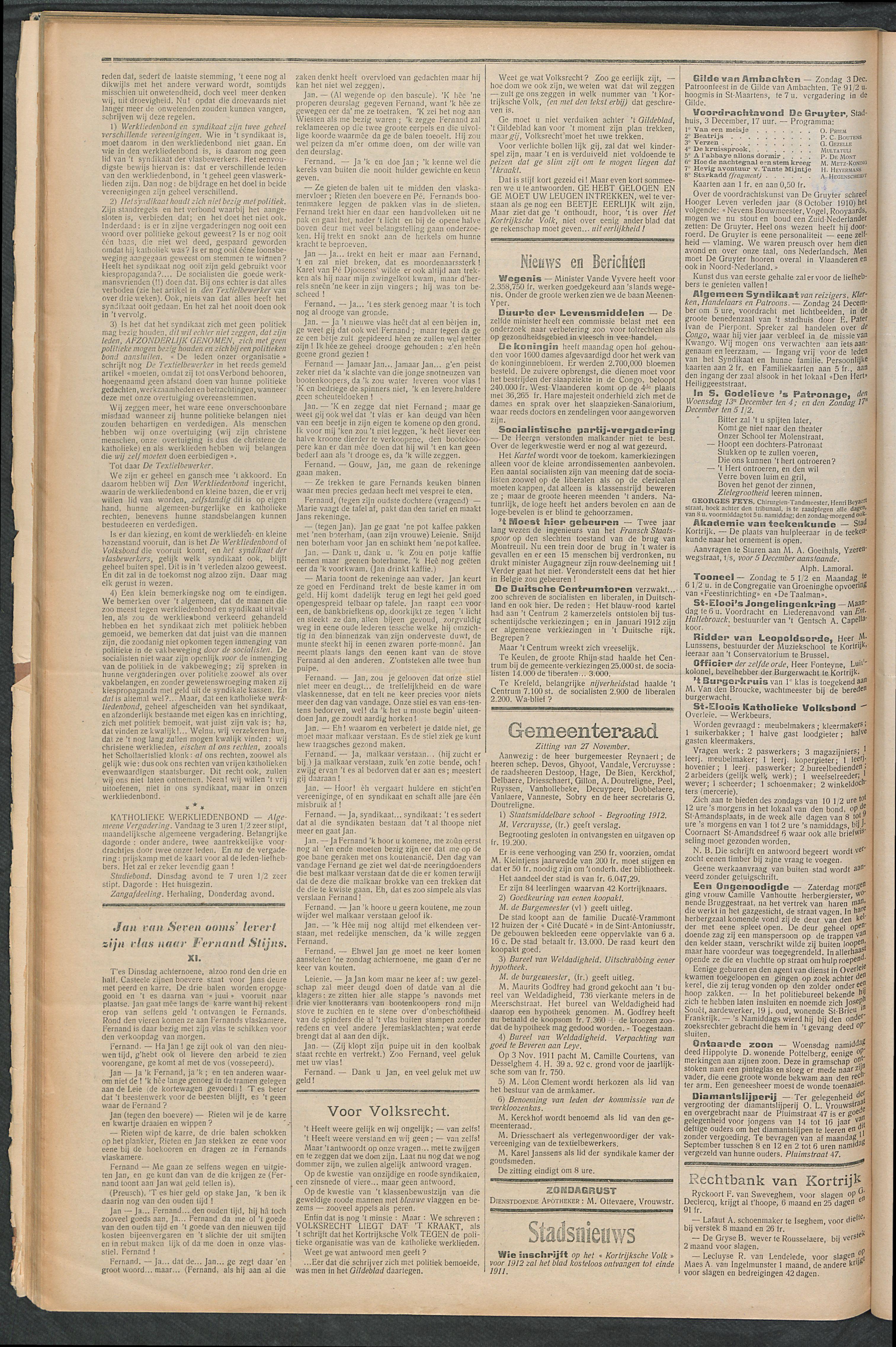Het Kortrijksche Volk 1911-12-03 p2
