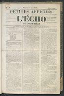 L'echo De Courtrai 1849-04-01