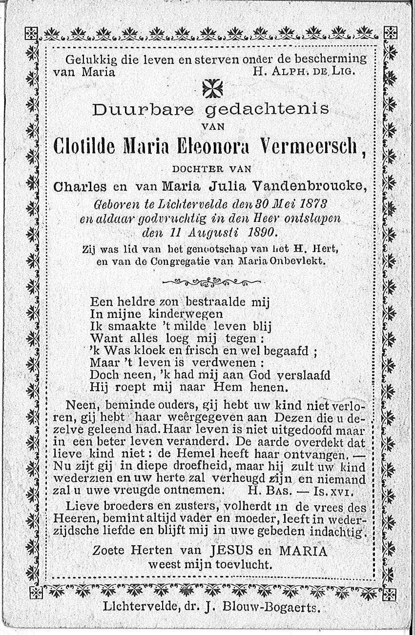 Clotilde-Maria-Eleonora Vermeersch