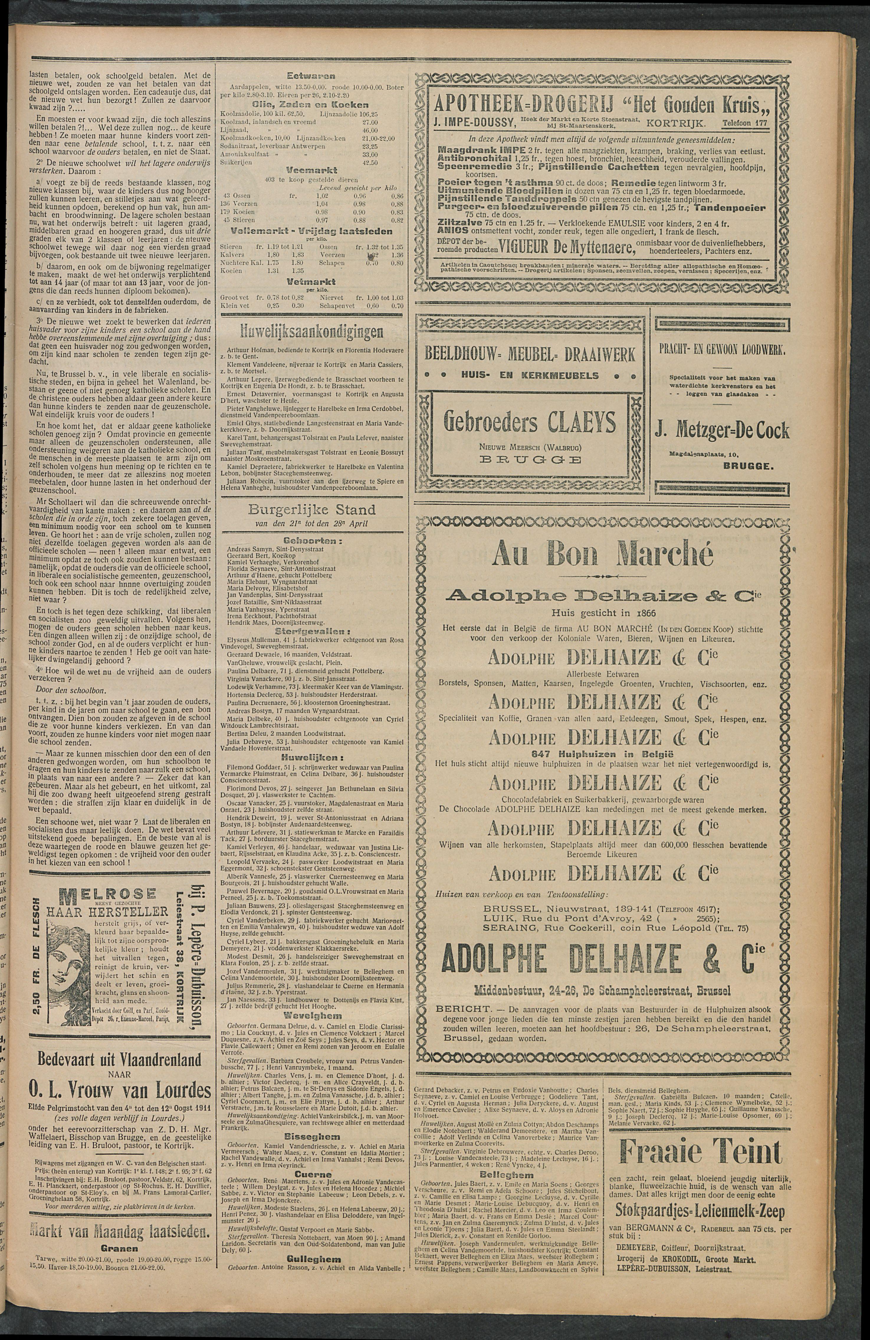 Het Kortrijksche Volk 1911-04-30 p3