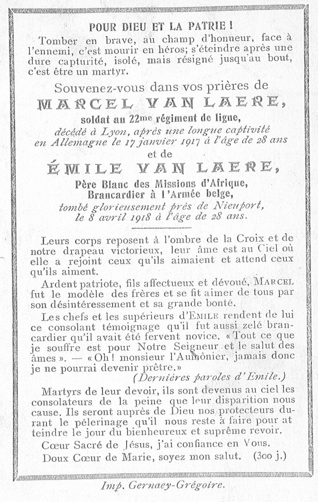 Van Laere Marcel en Emile