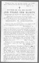 Van Nunen Jan Frans