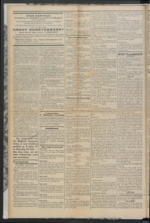 Het Kortrijksche Volk 1922-07-16 p2