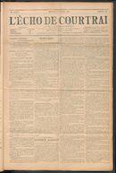 L'echo De Courtrai 1911-10-08 p1