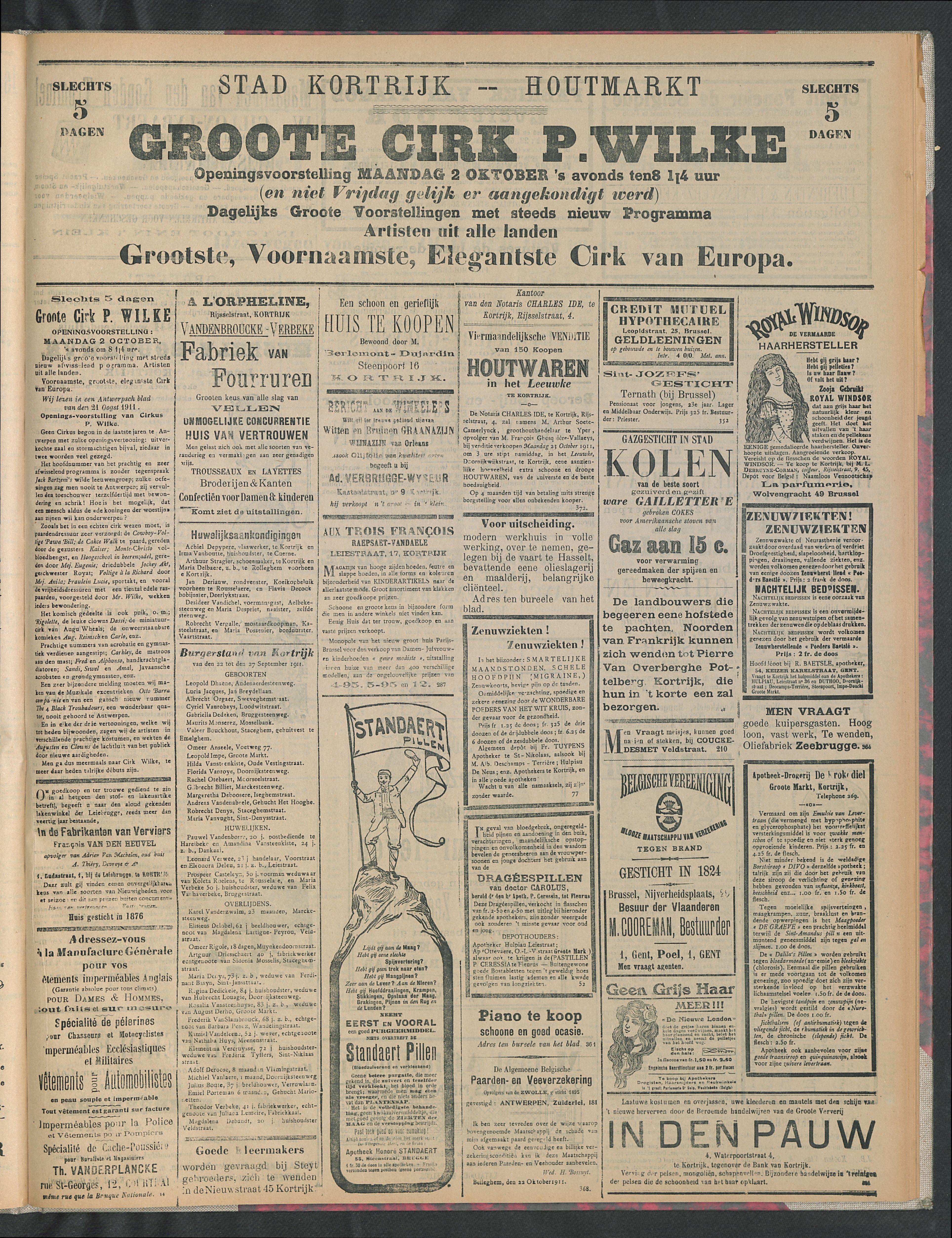 Gazette Van Kortrijk 1911-10-01 p3