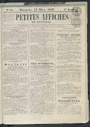 Petites Affiches De Courtrai 1842-03-13
