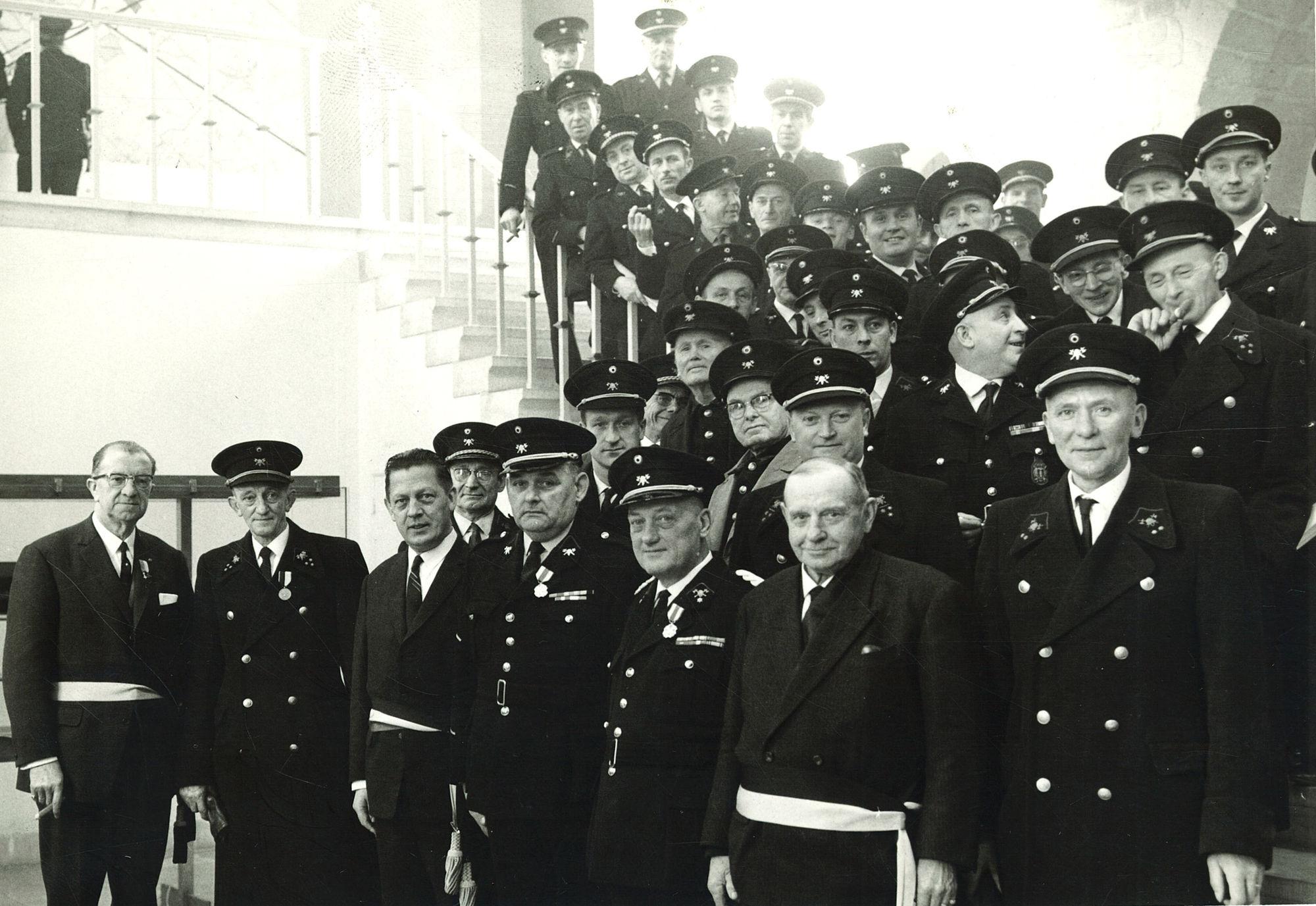 Huldiging brandweerlieden