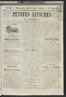 Petites Affiches De Courtrai 1841-02-21