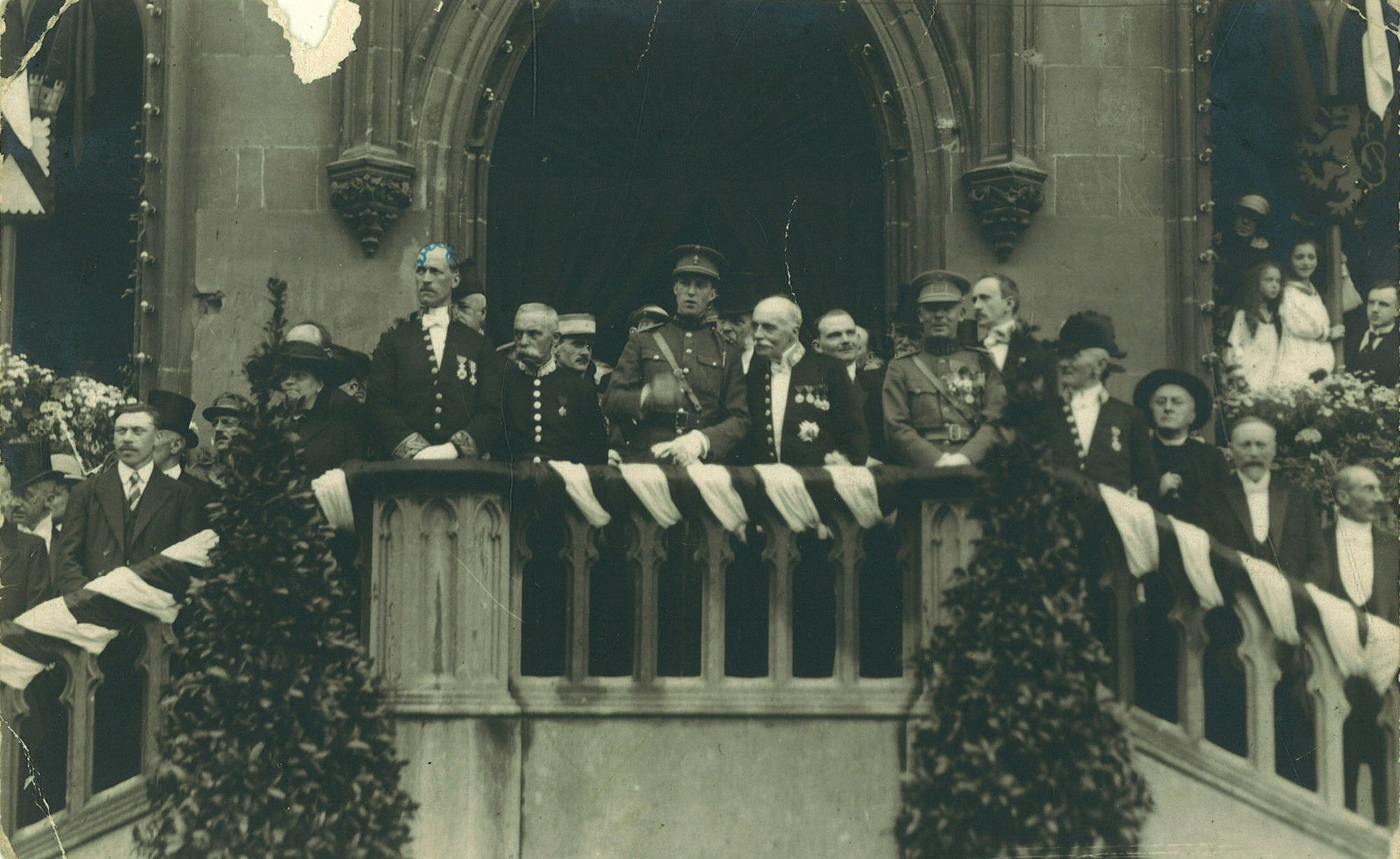 Ontvangst van prins Leopold op het stadhuis