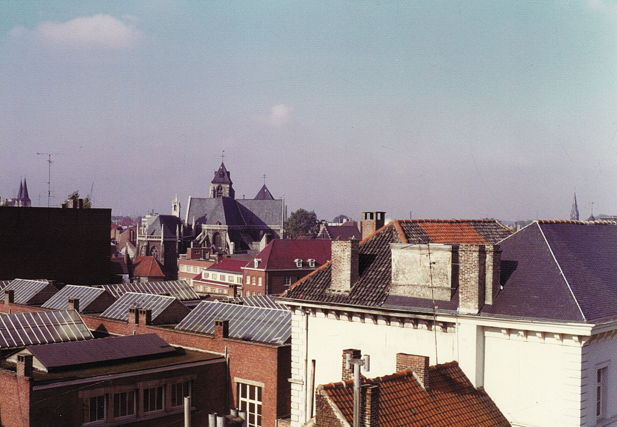 Panorama van de Kortrijkse binnenstad