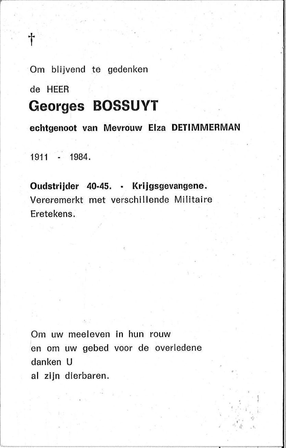 Bossuyt Georges